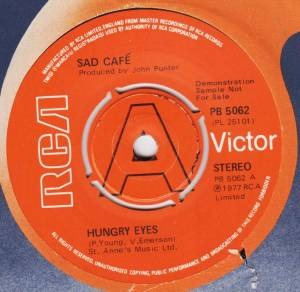 Cover - Sad Café: Hungry Eyes