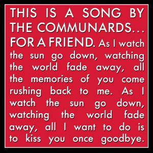 The Communards: For A Friend - Cover