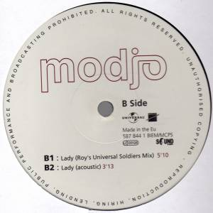 "Modjo: Lady (Hear Me Tonight) (12"") - Bild 4"