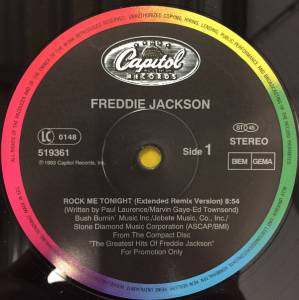 Cover - Freddie Jackson: Rock Me Tonight