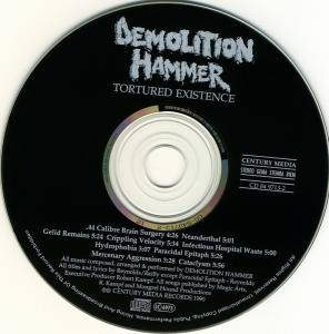 Demolition Hammer: Tortured Existence (CD) - Bild 3