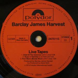 Barclay James Harvest: Live Tapes (2-LP) - Bild 5