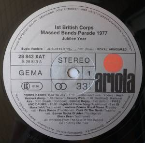 1st British Corps Massed Bands: 1st British Corps Massed Bands Parade 1977 - Jubilee Year (LP) - Bild 3