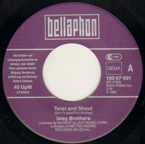 "The Isley Brothers / Larry Williams: Twist And Shout (Split-7"") - Bild 3"