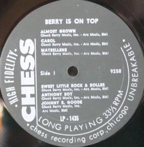 Chuck Berry: Berry Is On Top (LP) - Bild 3