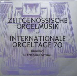 "Cover - Gaston Litaize: Zeitgenössische Orgelmusik Aus ""Internationale Orgeltage '70"""