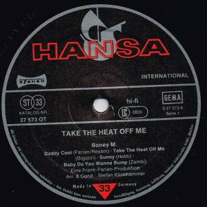 Boney M.: Take The Heat Off Me (LP) - Bild 3