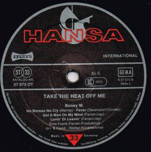 Boney M.: Take The Heat Off Me (LP) - Bild 4