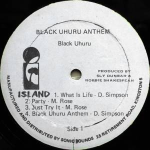 Black Uhuru: Anthem (LP) - Bild 3