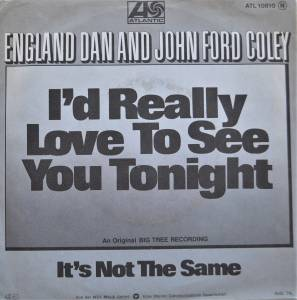 Cover - England Dan & John Ford Coley: I'd Really Love To See You Tonight