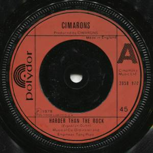 Cover - Cimarons, The: Harder Than The Rock
