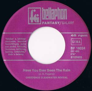 "Creedence Clearwater Revival: Have You Ever Seen The Rain / Hey Tonight (7"") - Bild 5"