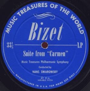 Cover - Georges Bizet: Suite From Carmen / Show Boat