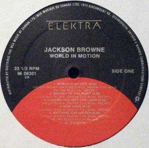 Jackson Browne: World In Motion (LP) - Bild 3