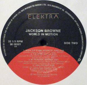 Jackson Browne: World In Motion (LP) - Bild 4
