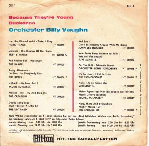 "Billy Vaughn: Because They're Young (7"") - Bild 2"