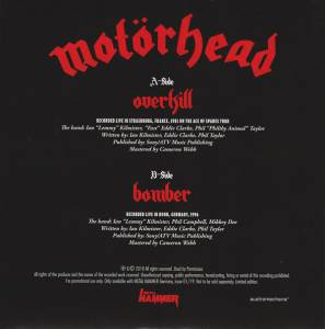 "Motörhead: Live And Unreleased - Overkill & Bomber (7"") - Bild 5"