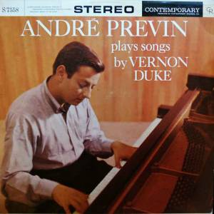 Cover - André Previn: André Previn Plays Songs By Vernon Duke