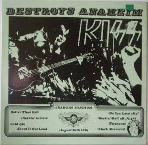 KISS: Destroys Anaheim - Cover