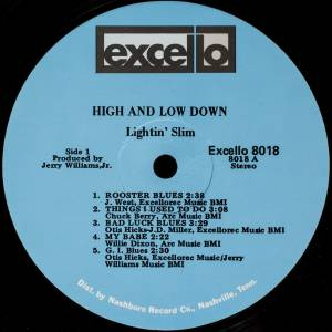 Lightnin' Slim: High & Low Down (LP) - Bild 5
