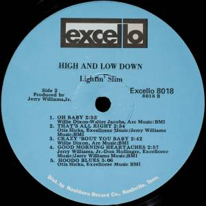 Lightnin' Slim: High & Low Down (LP) - Bild 6