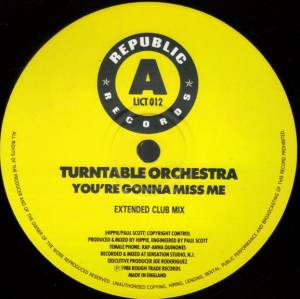 "Turntable Orchestra: You're Gonna Miss Me (12"") - Bild 3"