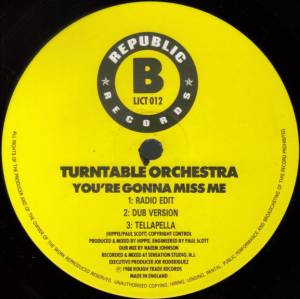 "Turntable Orchestra: You're Gonna Miss Me (12"") - Bild 4"