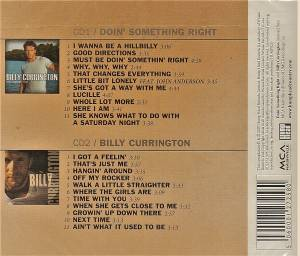 Billy Currington: Doin' Somethin' Right / Billy Currington (2-CD) - Bild 2