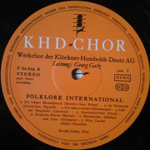 Khd-Chor: Folklore International (LP) - Bild 3