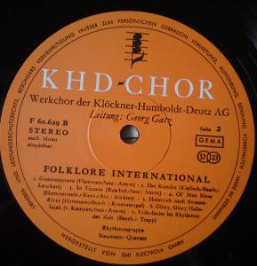 Khd-Chor: Folklore International (LP) - Bild 4