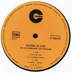 The N-U-R Renegades Steel Orchestra: Sounds In Steel (LP) - Bild 3