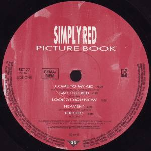 Simply Red: Picture Book (LP) - Bild 5