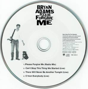 Bryan Adams: Please Forgive Me (Single-CD) - Bild 3