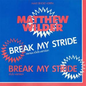 Matthew Wilder: Break My Stride - Cover