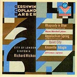 Cover - Aaron Copland: Rhapsody In Blue / Appalachian Spring / Knoxville Adagio