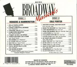 Richard Rodgers & Oscar Hammerstein II + Cole Porter: More Broadway Musicals (Split-2-CD) - Bild 2