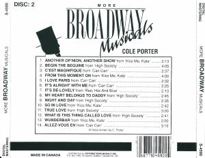 Richard Rodgers & Oscar Hammerstein II + Cole Porter: More Broadway Musicals (Split-2-CD) - Bild 6