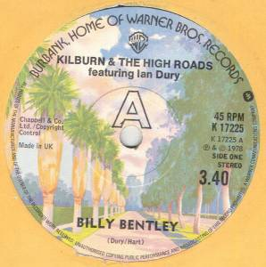 "Kilburn & The High Roads Feat. Ian Dury: Billy Bentley (7"") - Bild 1"