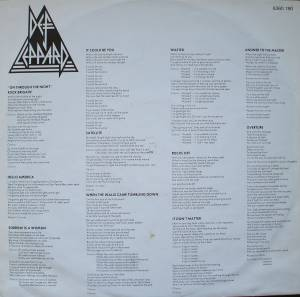 Def Leppard: On Through The Night (LP) - Bild 3