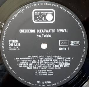 Creedence Clearwater Revival: Hey Tonight (LP) - Bild 3