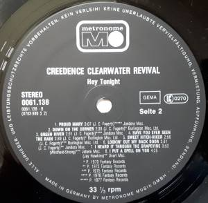 Creedence Clearwater Revival: Hey Tonight (LP) - Bild 4