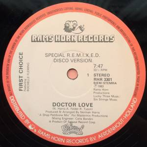 "First Choice Feat. Rochelle Fleming: Doctor Love (12"") - Bild 2"