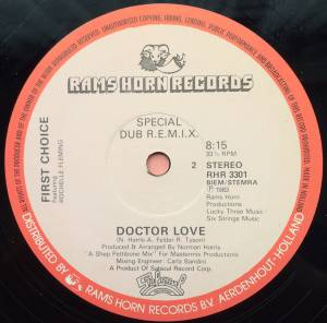 "First Choice Feat. Rochelle Fleming: Doctor Love (12"") - Bild 3"