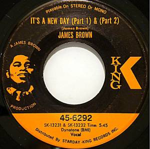 "James Brown: It's A New Day (Part 1) & (Part 2) (7"") - Bild 1"