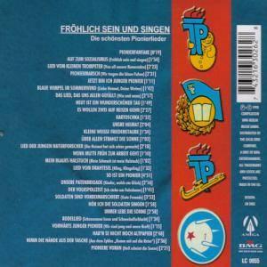 Frohlich Sein Und Singen Die Schonsten Pionierlieder Cd 1998