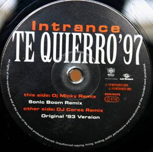 Cover - Intrance: Te Quierro '97 - Part II