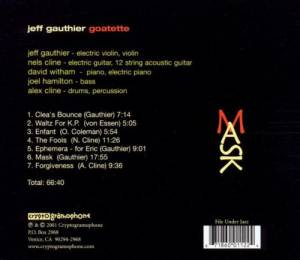The Jeff Gauthier Goatette: Mask (CD) - Bild 2