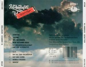 Wolfgang Ambros: Gewitter (CD) - Bild 2