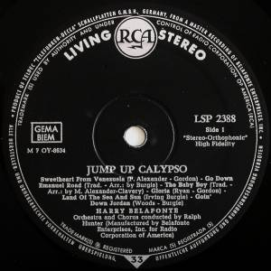 Harry Belafonte: Jump Up Calypso (LP) - Bild 3