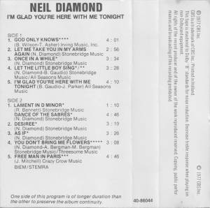Neil Diamond: I'm Glad You're Here With Me Tonight (Tape) - Bild 3